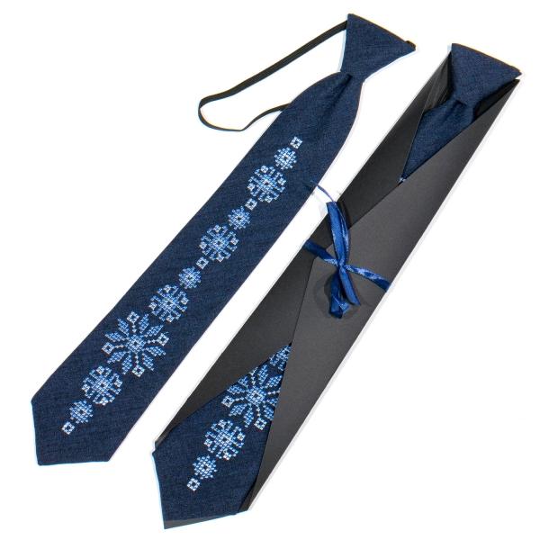 Підліткова вишита краватка №785