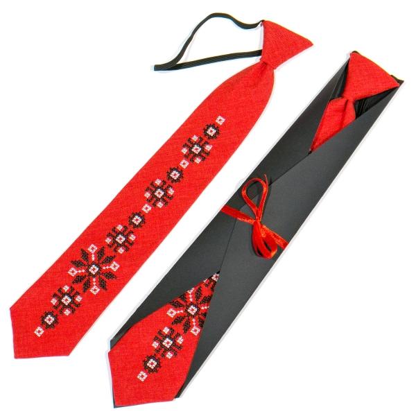 Підліткова вишита краватка №786