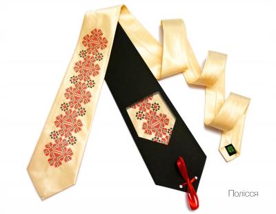 Краватка з вишивкою Полісся