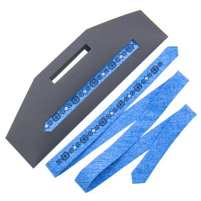 Тонка краватка з вишивкою №831