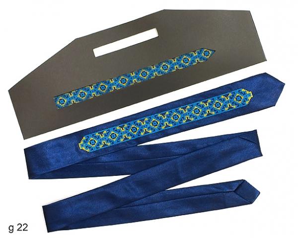 Вузький галстук з вишивкою Ведан