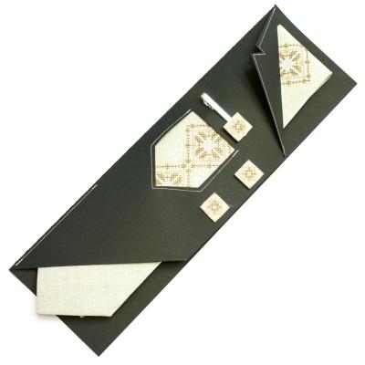 Вишитий набір Дяк краватка + зажим + запонки