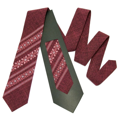 Модна вишита краватка №664