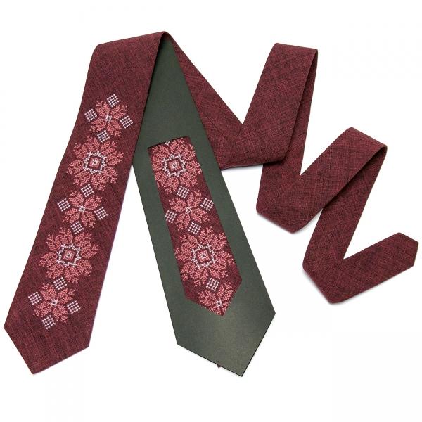 Модна вишита краватка №667