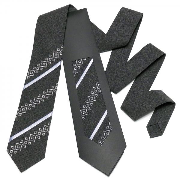 Оригінальна вишита краватка №757