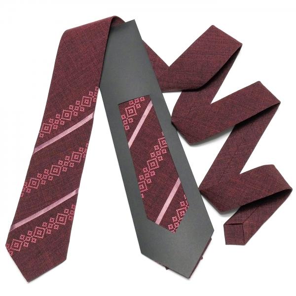 Оригінальна вишита краватка №758