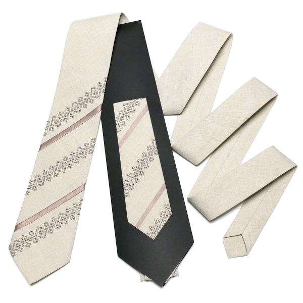 Оригінальна вишита краватка №759