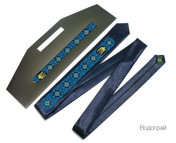 Вузький галстук з вишивкою Водограй