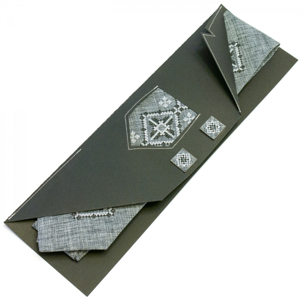 Вишита краватка із запонками Услав