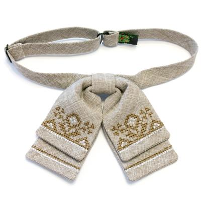 Жіночий метелик-бант з вишивкою №584